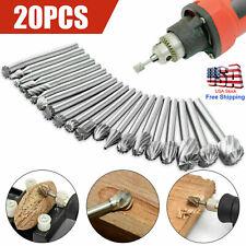 20pcs Shank Tungsten Carbide Burr Rotary Drill Bit Tool 18 Cutter Files Set Us