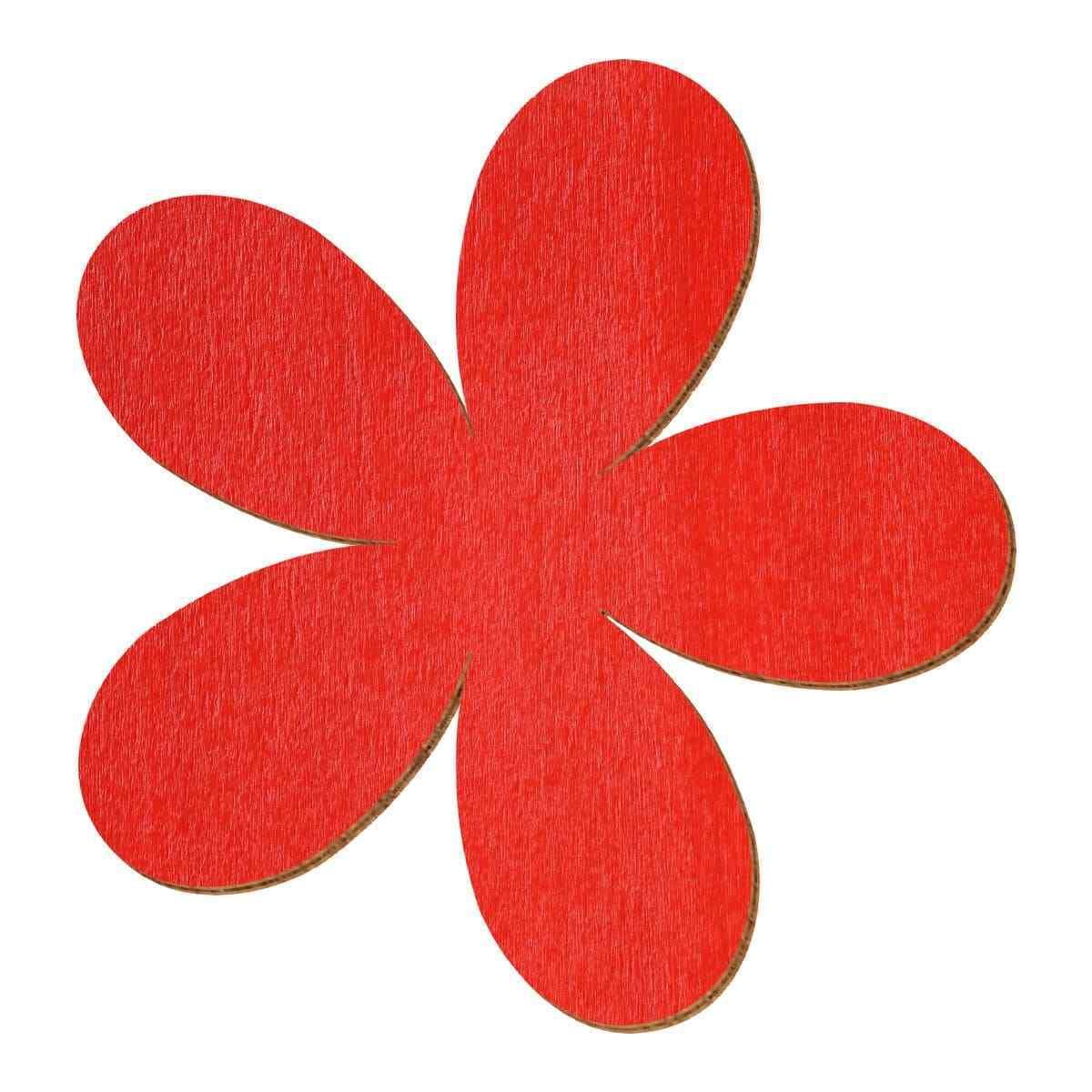 Rote Holz Plumeria - 2-10cm Streudeko Basteln Deko Tischdeko | Die Königin Der Qualität  | Qualität und Quantität garantiert