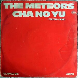 VINILE-LP-45-GIRI-RPM-THE-METEORS-CHA-NO-YU-151084-HOLLAND-1982