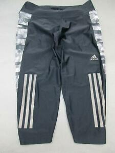 Adidas-Size-S-Womens-Black-Athletic-Climacool-Cropped-Track-Pants-175