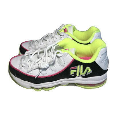 sneakers size 7.5 white neon green