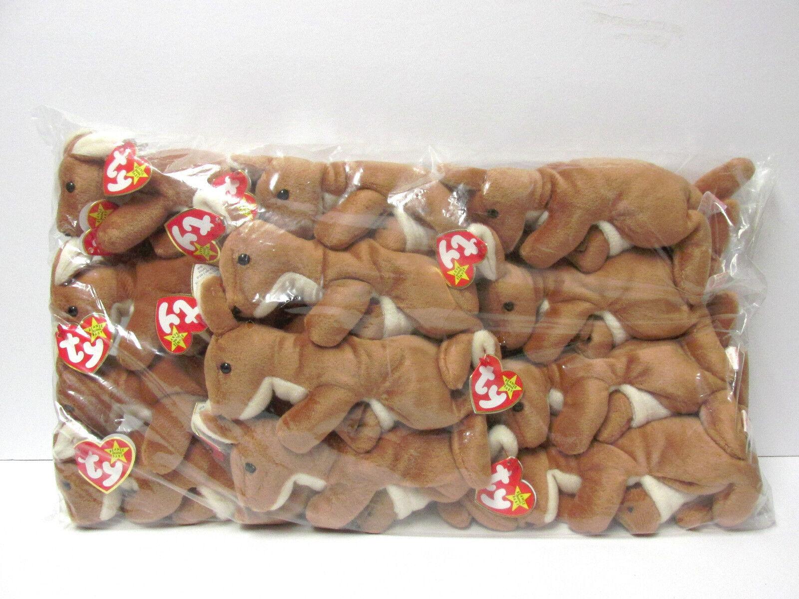 Ty beanie baby versiegelten beutel ein dutzend (12)  kurier  känguru - w   baby, minze - tags