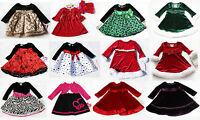 Girls Baby Holiday Long Sleeve Dress Xmas Outfit Christmas Birthday