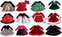 Girls Baby Holiday Long Sleeve Dress Xmas Outfit Christmas Birthday