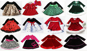 NWT Girls Baby Holiday Long sleeve Dress Xmas Outfit NEW Christmas ...