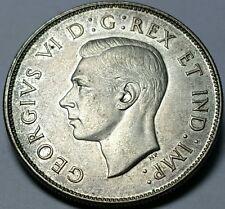 1946 Canada 50 Cents Silver Coin - BU