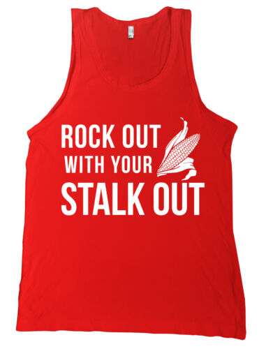 Rock Out With Your Stalk Out Bella Canvas Tank Top NE Cornhuskers Shirt NEW