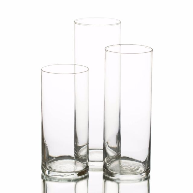 Eastland Glass Cylinder Vases Set Of 3 Home Wedding Event Decor