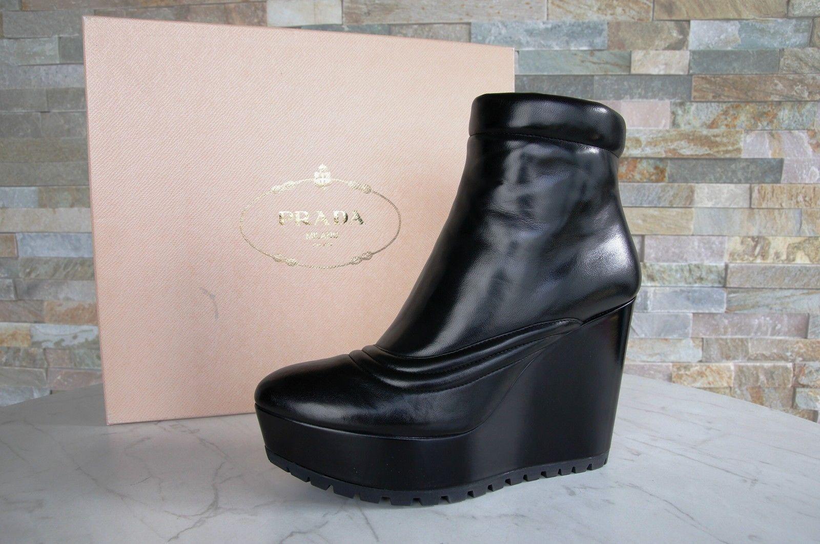 PRADA Gr 40 Stiefeletten Stiefelies Schuhe Stiefel Stiefel Stiefel 1TZ008 schwarz neu ehem 0fccf1