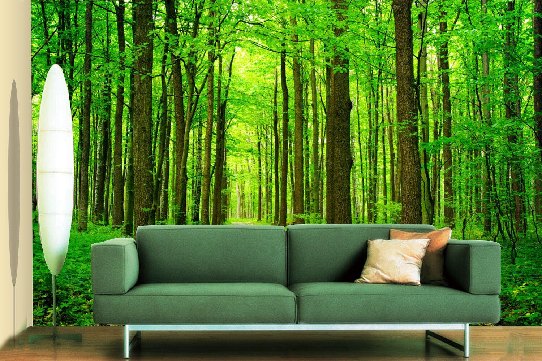3D Grün trees 3423 Wall Paper Wall Print Decal Wall Deco Indoor Wall Murals