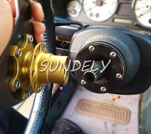 Hi-Q Steering Wheel Quick Release Hub Adapter Removable Snap Off Boss Kit Black
