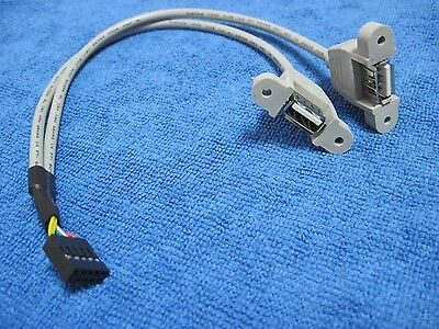 2 port motherboard computer host case USB 2.0 extension panel cable cord screws