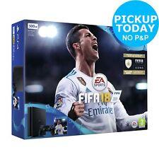Sony PlayStation 4 PS4 500GB Slim FIFA 18 Console Bundle - Black