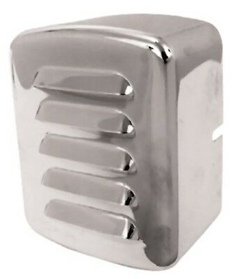 Louvered Vented Chrome Coil Cover Harley Big Twin 4 Spd 1965-Ltr /& Softail 84-99