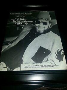 Hank Williams Jr. William Morris Agency Rare Promo Poster ...
