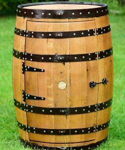 Solid-Oak-Whisky-Barrel-Guinness-Branded-034-Balmoral-034-Drinks-Cabinet-Wine-Rack