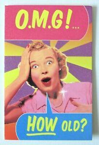 Funny Photo Glitter Retro Happy Birthday Quality Greetings Card by Waffles New