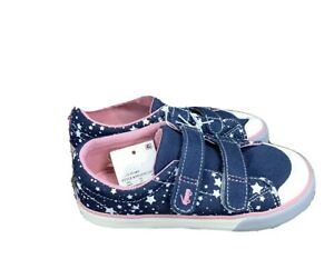 See Kai Run Basics MorganToddler Girls Navy Stars Sneakers size 6,9,11,12