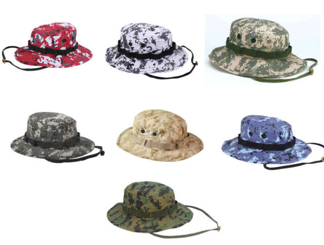 73203895cd605 Bucket Jungle Hunting Fishing Sun Military NO EGA Digital Camo Boonie Hat  Cap