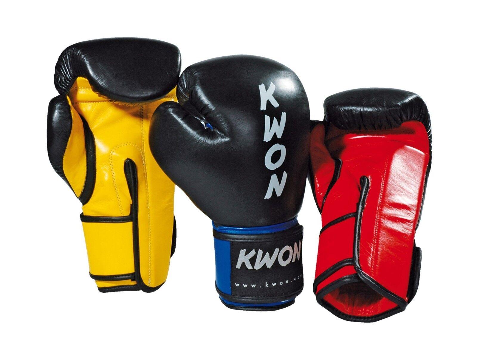Kwon KO Champ Profi Guantoni da scatolae. 8, 10 u.12oz. di cuoio. scatole, Kick scatolae, MMA