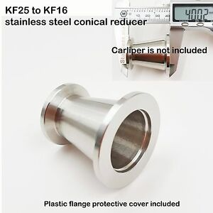 KF25-NW25-to-KF16-NW16-Flange-vacuum-conical-reducer-Stainless-steel-304