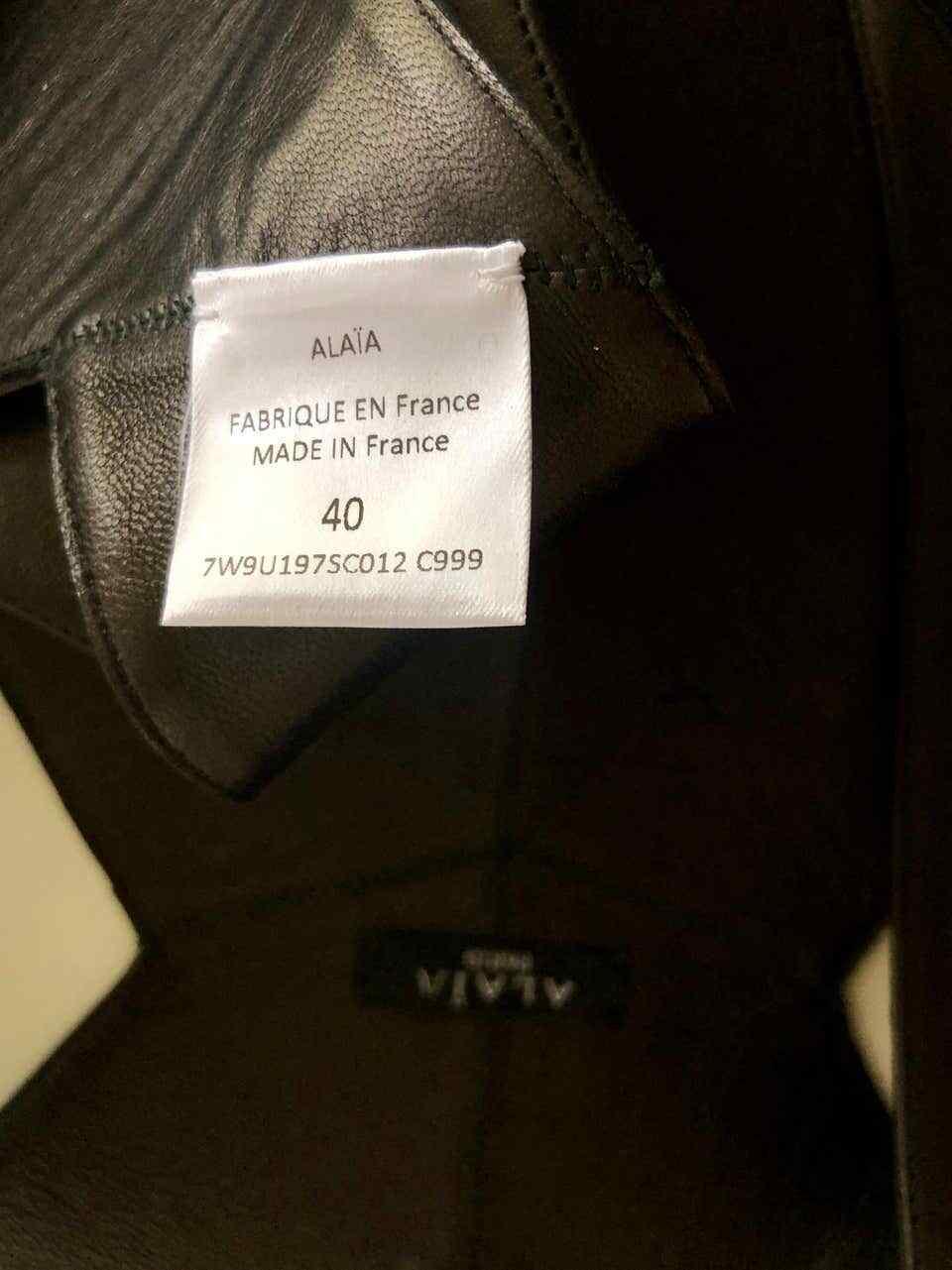 Azzedine Alaia Wrap Leather Cutout Black Top - image 12