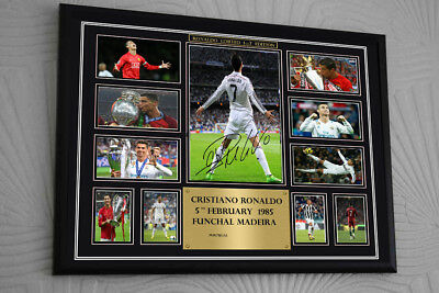 "Cristiano Ronaldo canvas tribute signed Limited Edition /""Great Gift Souvenir/"""