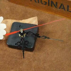 4X-Wall-Clock-Quartz-Movement-Mechanism-Repair-Set-Hands-Black-DIY-Part-Kit-F4Q7