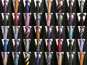 2019-Classic-Paisley-JACQUARD-WOVEN-100-Silk-Men-039-s-Tie-Necktie-Wedding-Party
