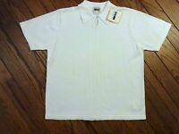 Leslie Fay White Short Sleeved Sweater Size Large