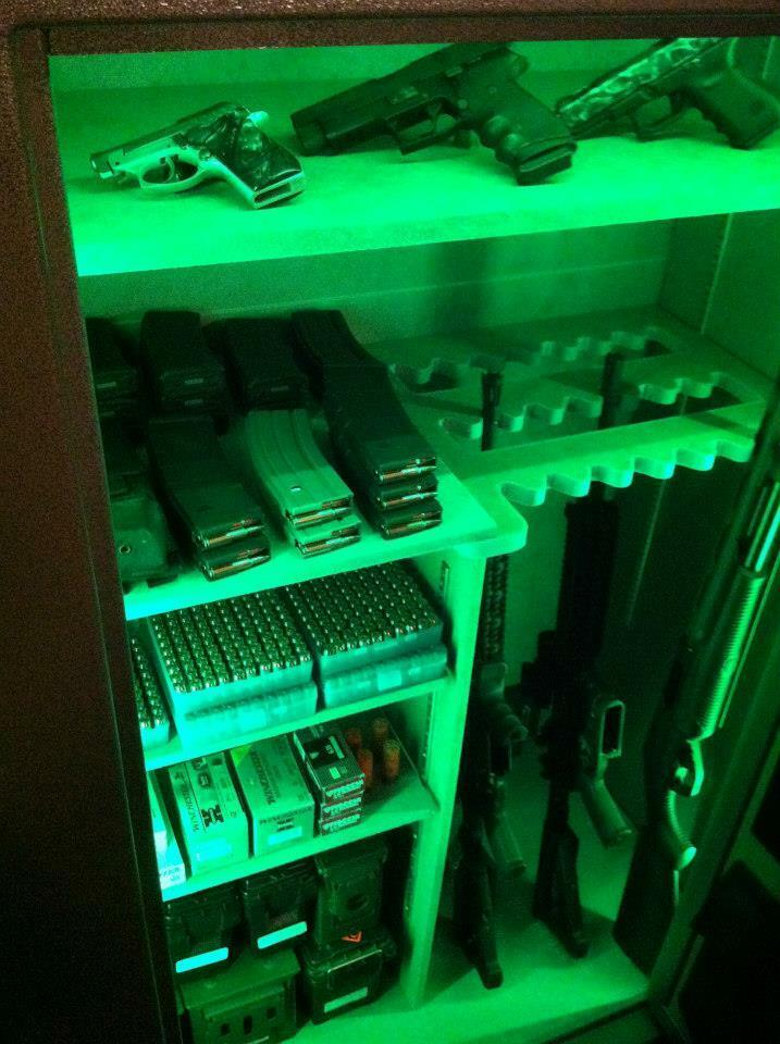 Pistola seguro   Gabinete Luz Led Lighting Kit Regalo De Cumpleaños Para Elk Cazadores