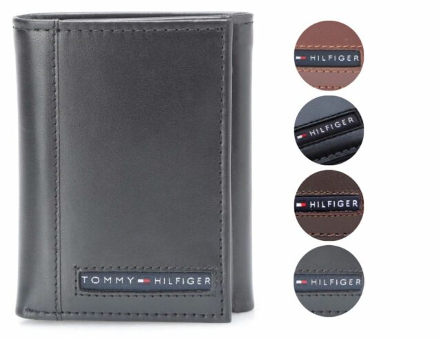Tommy Hilfiger Black Leather Men/'s Wallet 747 FREE SHIPPING