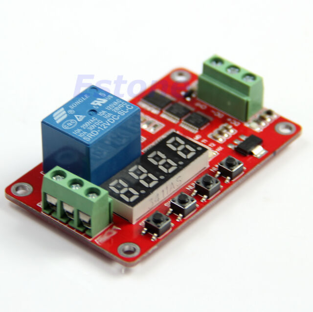 PLC Home Automation Delay 12V Multifunction Self-lock Relay Cycle Timer Module