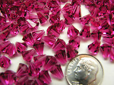 360 PCS SWAROVSKI CRYSTAL BEADS #5400 - 6.6x6 MM - FUCHSIA -FULL FACTORY PACKAGE