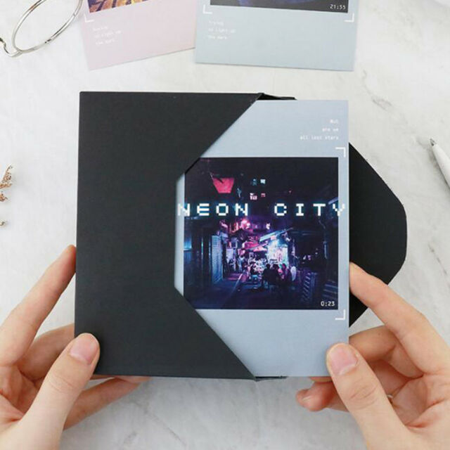 30 Sheets/Set Neon City Print Postcard Birthday Letter Greeting Card Envelope