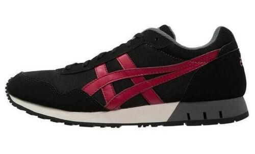 Asics Boys Juniors Curreo GS Shoes Trainers Black//Burgundy C6B3N-9026 UK 4