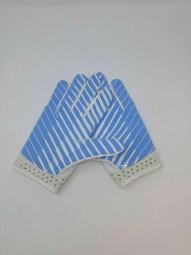 New Under Armour Men/'s Light Blue Spotlight WR Football Gloves