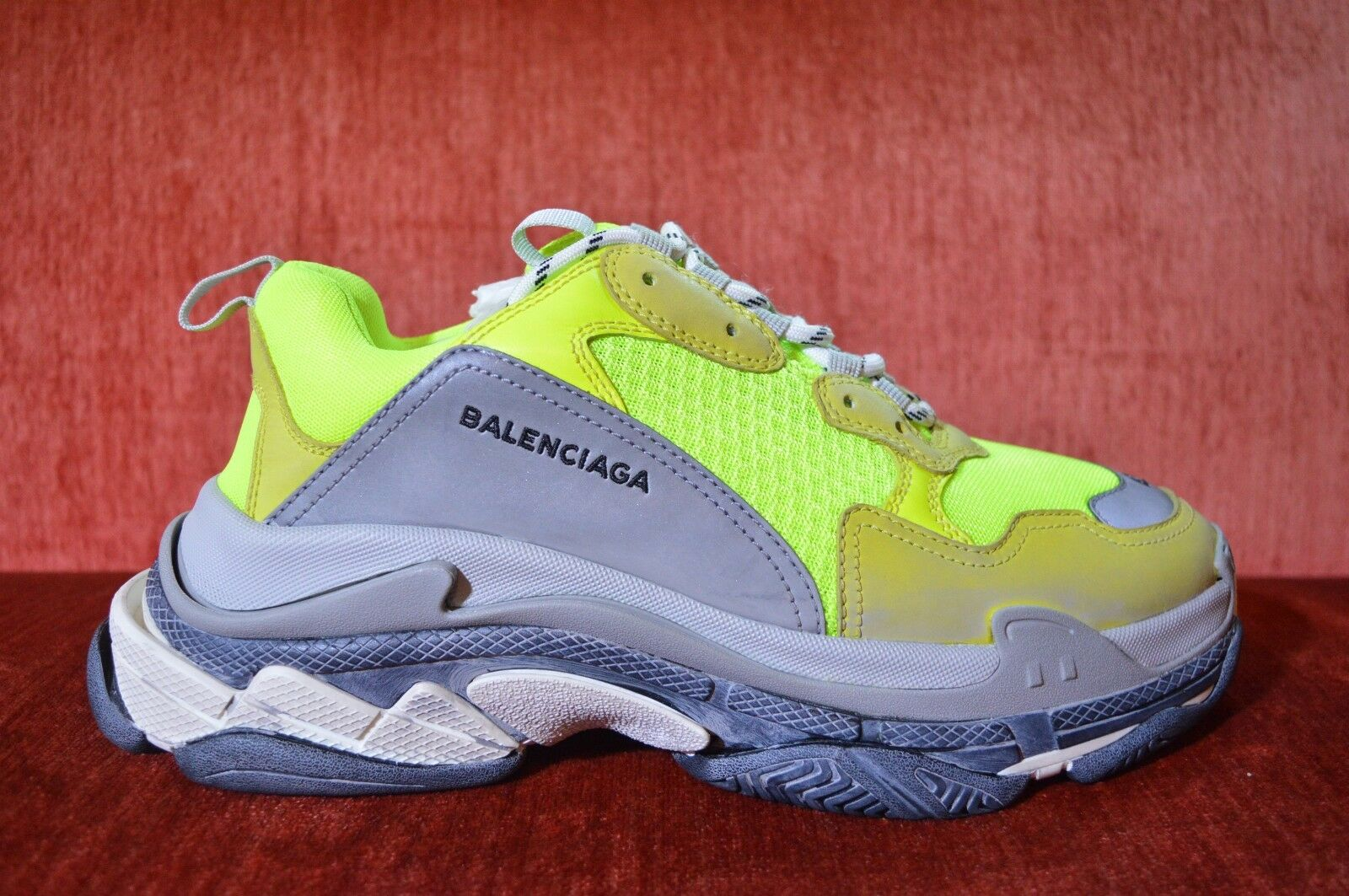 NEW Balenciaga Triple S Neon Yellow US 10 2018 Reissue SSS