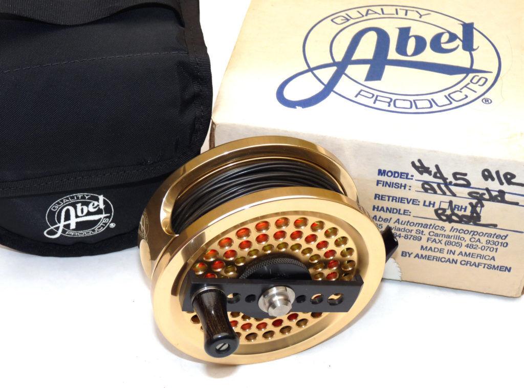 Abel USA  5 saltwater fly fishing reel & line &  case &  box