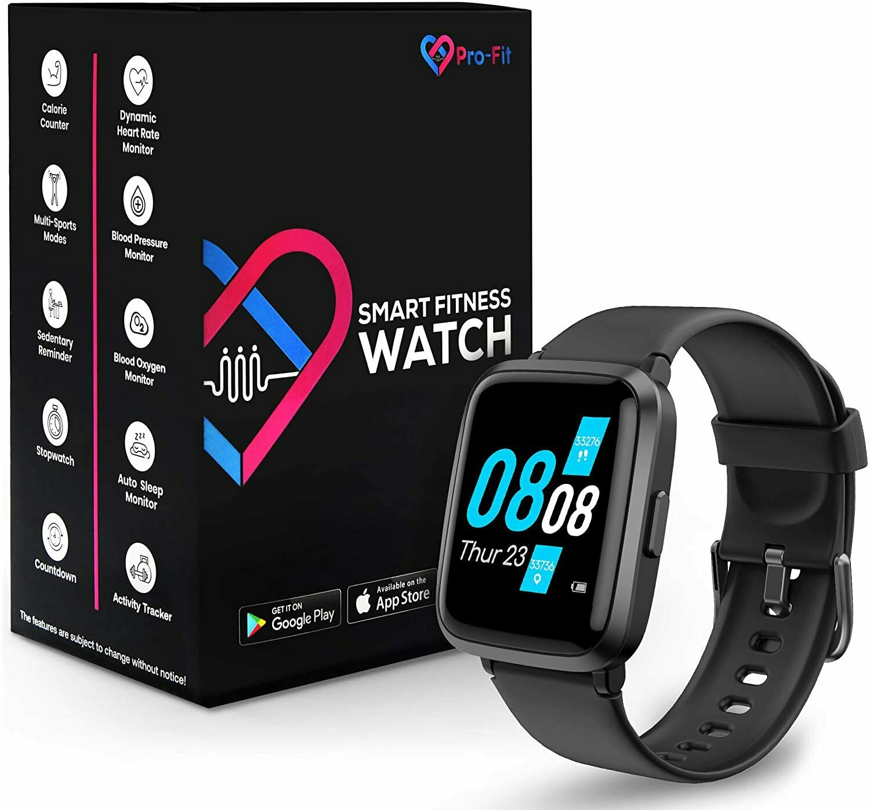 Pro-Fit Go VeryFitPro Smart Watch Activity Fitness Tracker Heart Rate Blood Oxyg