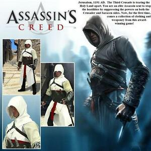 Assassins-Creed-Altair-Over-Tunic-with-Hood-Stage-Costume-Re-enactment-or-LARP