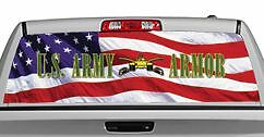 Truck Rear Window Decal Graphic 20x65in DC08706 Military // U.S. Army Armor