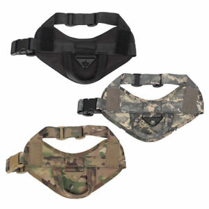 Tactical-Dog-Vest-Harness-Military-Training-Pet-Adjustable-Nylon