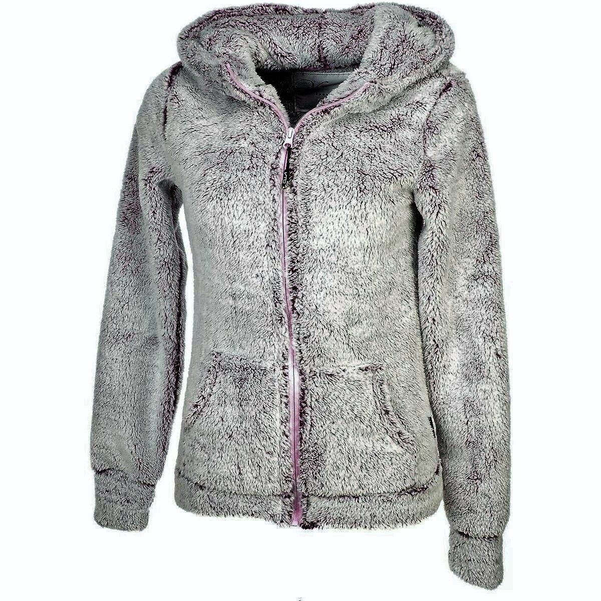 Felpa Maglia greenigo Nistel Full Zip Cappuccio women Soft Pile New