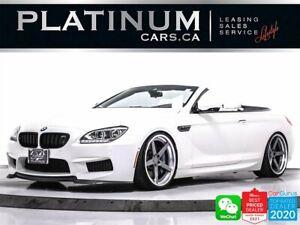 2015 BMW M6 CONVERTIBLE 560HP V8, MANUAL.EXEC PKG, DRIVING AST