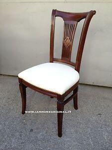 Sedie In Legno Imbottite.Sedia In Legno Imbottita Soggiorno Salotto In Pelle Beige Ebay