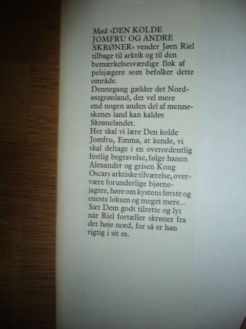 Den kolde jomfru og andre skrøner, Jørn Riel, genre: anden