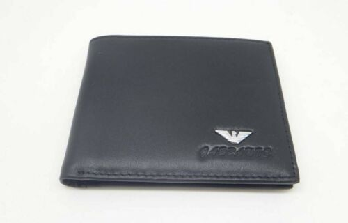 Gabbanie Genuine leather men/'s Bifold Wallet with coin pocket black brown