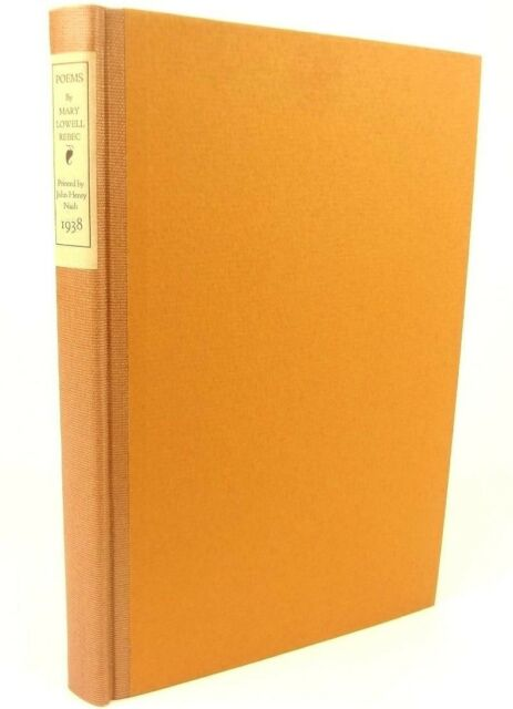 1938 limited edition Poems of Mary Lowell Rebec. John Henry Nash printer.