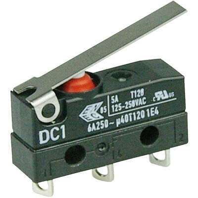 Leads IP67 Cherry DC1C-C3LB Microswitch SPDT 6A 250V AC Short Lever